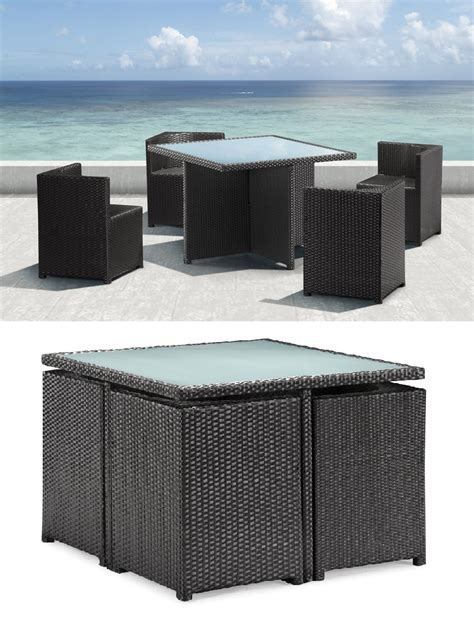 compact patio furniture furnishing a small condo balcony without sacrificing style
