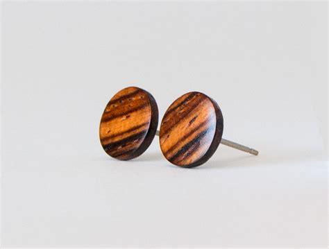 wood earring cocobolo wood studs wooden earrings unisex stud earrings