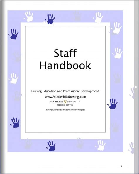 Nursing Education And Professional Development Ne Pd Staff Handbook Vanderbilt Health Child Care Employee Handbook Template