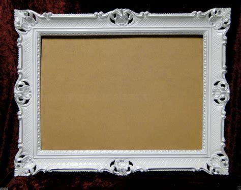 cadre d image blanc argent 233 baroque de mariage ancien 90x70 photo grand 3057 ebay