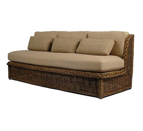 Indoor Rattan Sofa classic armless sofa sofas style indoor furniture the wicker works