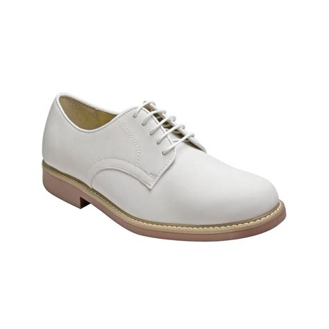 bass shoes oxfords g h bass co brockton plain toe oxfords in white for