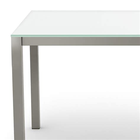 amisco glass dining table carbon modern white glass dining table by amisco eurway