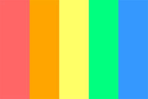 rainbow color palette rainbow color palette