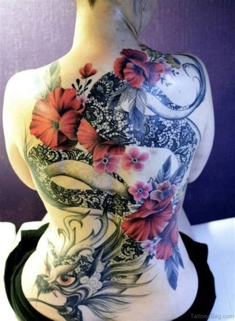 dragon and flower tattoo designs 80 breathtaking designs
