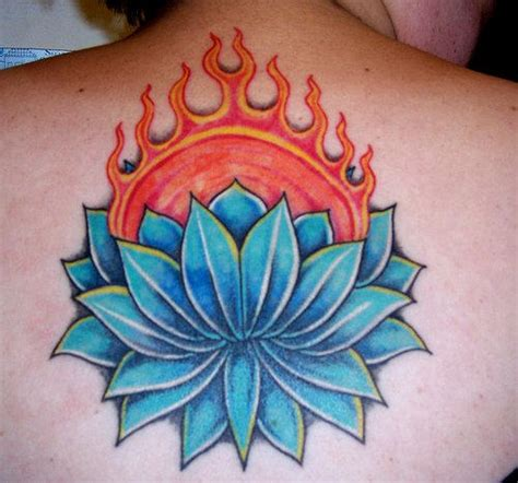 burning lotus tattoo burning lotus