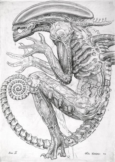 H R Giger Sketches by Never Before Seen Sketches That Inspired The Birth Of