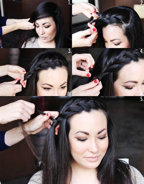 side braid bangs step by step how to style a side braid two ways a beautiful mess