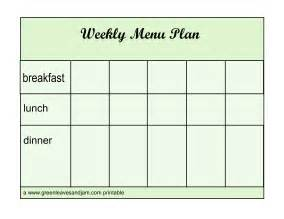 Blank Weekly Menu Template by Pin Blank Weekly Menu Planner Template On