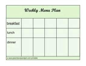 blank menu planner template pin blank weekly menu planner template on