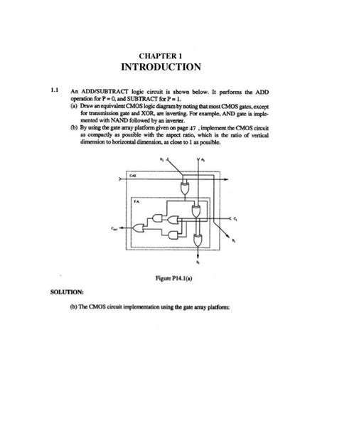 solution manual of design of analog cmos integrated circuits 105926921 cmos digital integrated circuits solution manual 1