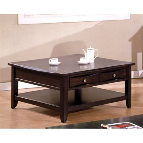Square Espresso Coffee Table Prospect Park Cappuccino Square Coffee Table Home Furniture Direct