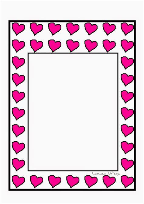 bordes descargables bordes o marcos con corazones en ne 243 n para imprimir gratis