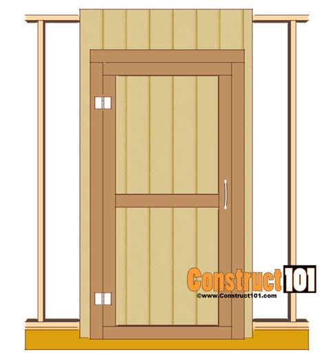 Shed Door Plans Step By Step Construct101 How To Build A Hinged Barn Door