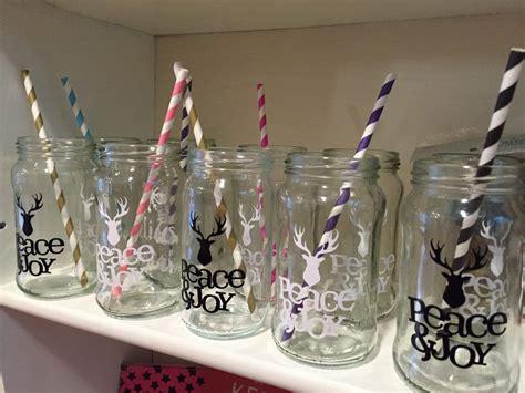 decoracion de vasos de vidrio para navidad vasos frascos de vidrio con sorbete c vinilo