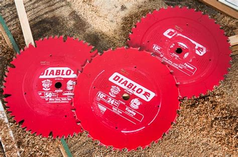 diablo 10 table saw and miter saw blade reviews
