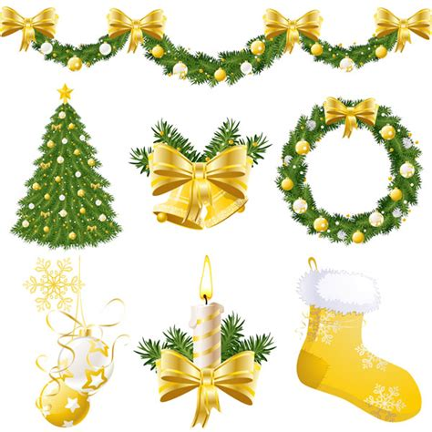 4 designer christmas decorations vector