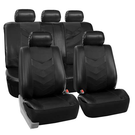 leather bench seat covers synthetic leather full set auto seat covers air bag safe