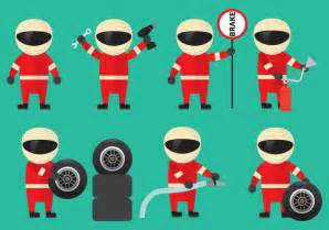 Pit Top Pit Stop Staff Vectors Free Vector Stock