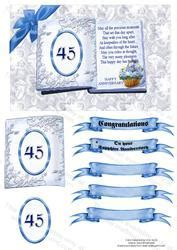 45th Sapphire Wedding Anniversary   CUP92103 543