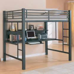 Metal Bed Frame On Hardwood Floors Bunk Beds With Desk Designs In Functional And