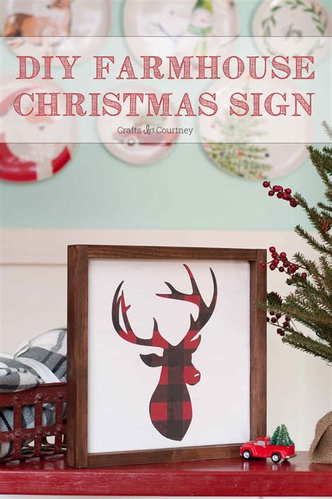 diy christmas sign farmhouse style mod podge rocks