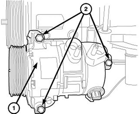 2007 Jeep Compass Air Conditioning Problems Repair Guides Compressor Removal Installation