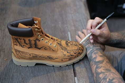 Handmade Shoes Nyc - mister customizes timberland boots for foot locker