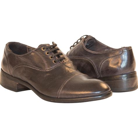 grey oxford shoes dip dyed grey leather oxford shoes paolo shoes