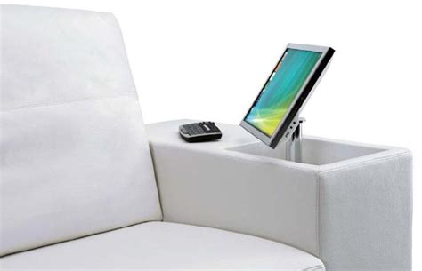 smart couch multimedia upholstered sofa with an integrated computer