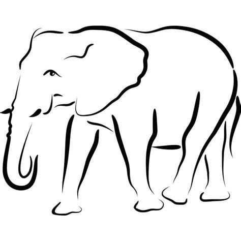 template of elephant zentangle elephant outline template applique patterns jpg clipartix