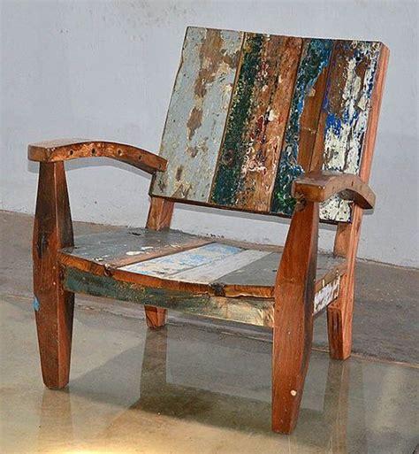 reclaimed boat wood furniture outdoor furniture reclaimed teak adirondack style chair