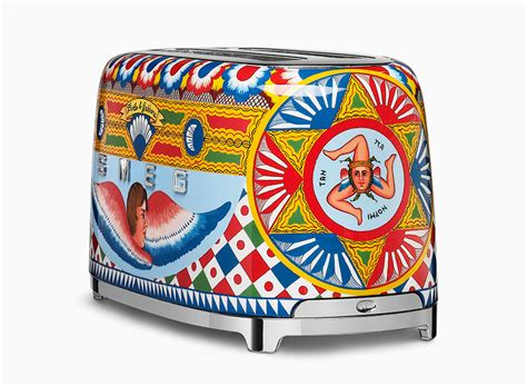 Southern Kitchen Design dolce amp gabbana adorns smeg kitchen appliances with