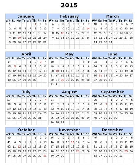 numbers calendar template weekly number calendar 2015 weekly calendar template