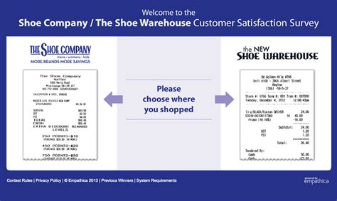 Company Surveys For Money - www theshoeq com the shoe company customer survey