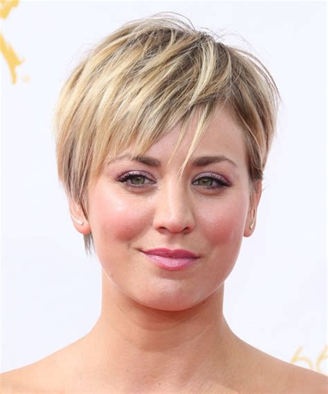 Kaley Cuoco Short Straight Casual Hairstyle   Medium Blonde (Golden)