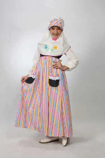 Gamis Hutaci Kid Biru aini 130201 biru baju muslim gamis modern