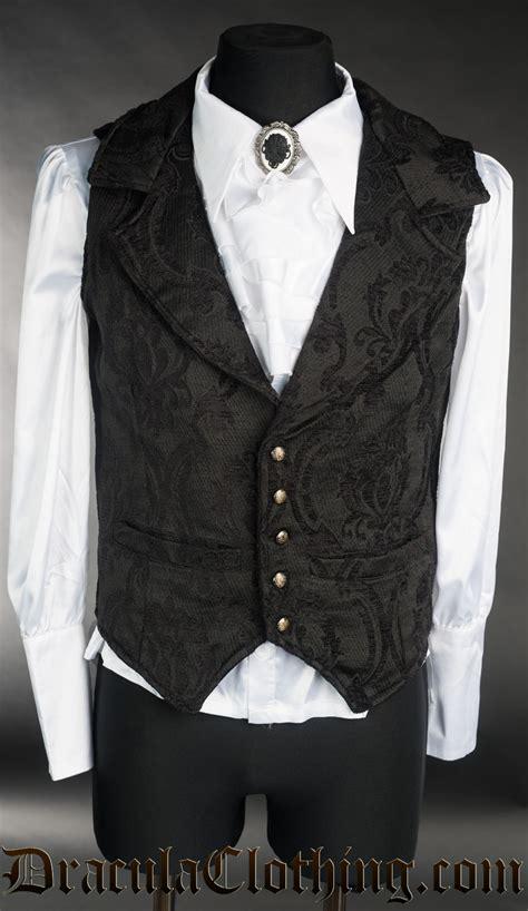 Black Brocade black brocade waistcoat