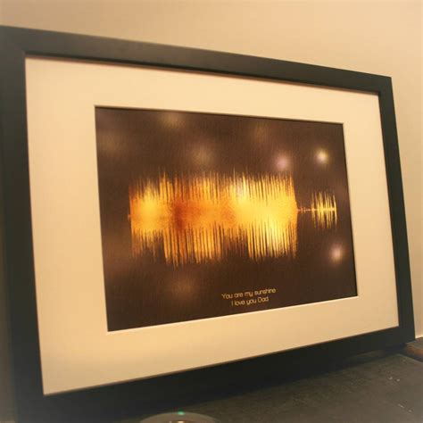 light in the box limited personalised limited edition sound wave light box by