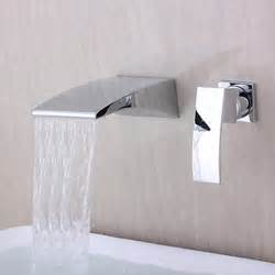 contemporary wall mounted waterfall chrome finish curve