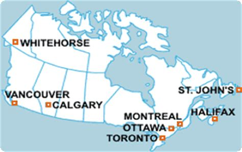 map of major cities in canada major cities in canada map