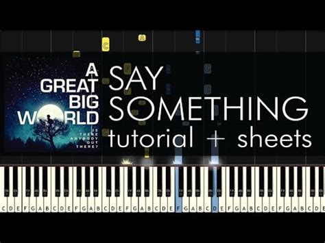 say something keyboard tutorial easy say something piano tutorial how to play a great big