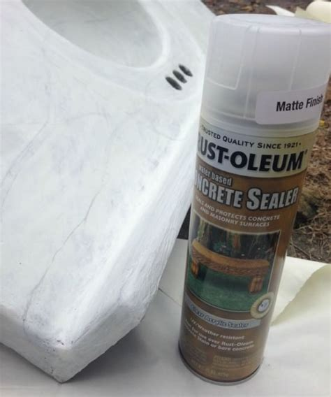 What Sealer To Use On Concrete Countertops by Creating A Diy Marble Countertop On A Budget Refresh