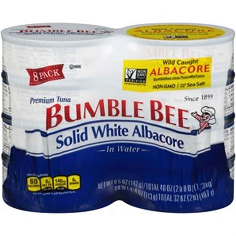 bumble bee solid white albacore tuna in water 8 pk 5 oz