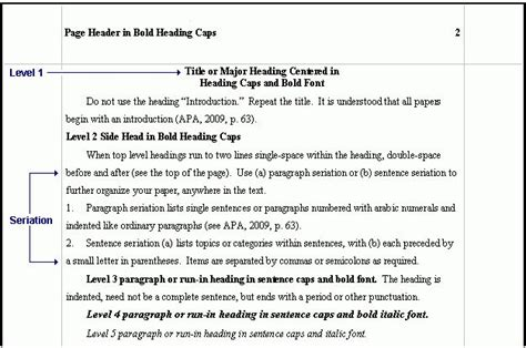 apa format bullet points sle apa research paper outline google search