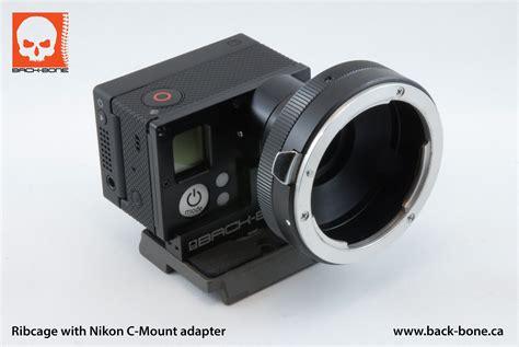Gopro Lens back bone cine mod gopro 3 nikon lens mount adapter