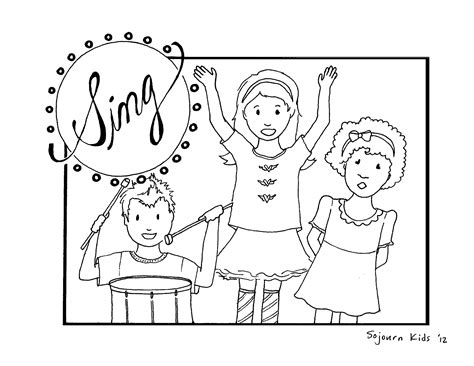 free childrens coloring pages free coloring pages children singing in church coloring