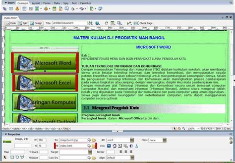 membuat website sederhana dengan dreamweaver cs3 antelu cara dasar membuat website dreamweaver cs3
