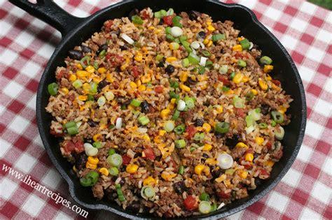 tex mex beef skillet  heart recipes