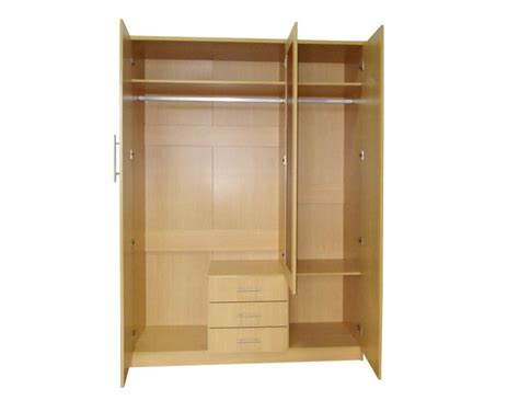 Wardrobe With 3 Drawers by Gfw Las Vegas 3 Door 3 Drawer Beech Wardrobe With Mirror